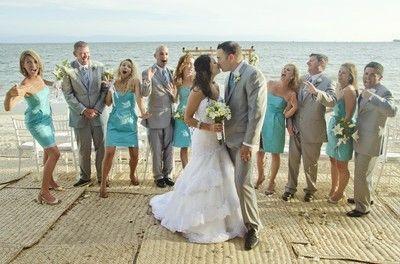 Destination Weddings bridal party attire , beach formal ...