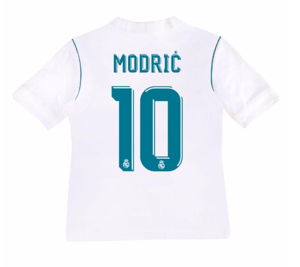 Real Madrid 2017-18 Home Kit Kids MODRIC  f581578fa8da8
