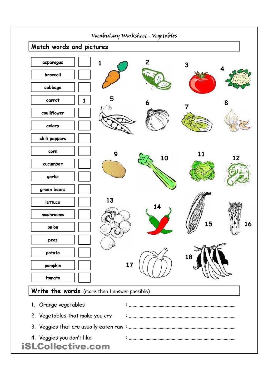 Vocabulary Matching Worksheet Vegetables Vocabulary Worksheets Elementary Worksheets Vocabulary [ 1440 x 1018 Pixel ]