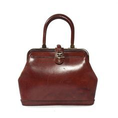 Vintage Etienne Aigner Leather Handbag Purse In Oxblood