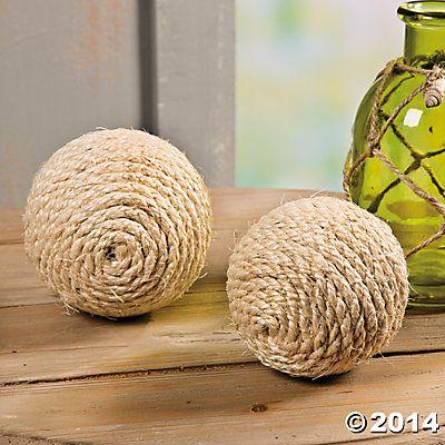 Decorative Rope Balls Decorative Rope Balls  Oriental Trading  Beach Vibe  Pinterest