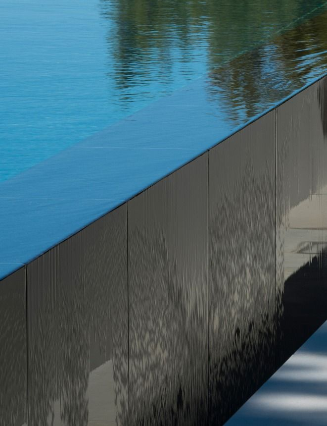 infinity pool edge detail by john pawson john pawson. Black Bedroom Furniture Sets. Home Design Ideas