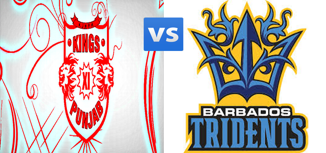 Kings XI Punjab (KXIP) Vs Barbados Tridents (BT) CLT20