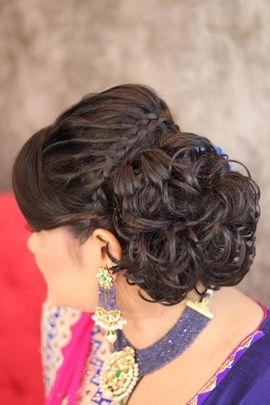 Best Site To Plan A Modern Indian Wedding Wedmegood Covers Real Weddings Genuine Reviews And Best Vendors Ca Bun Hairstyles Hairdo Wedding Bride Hairstyles