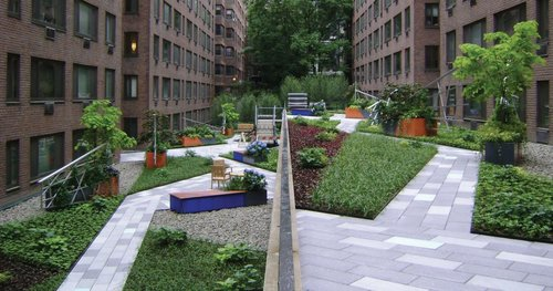 Creative Rooftop Landscape Design With Grass And River Stones Ideas Inspiration Garden Design Courses Creative
