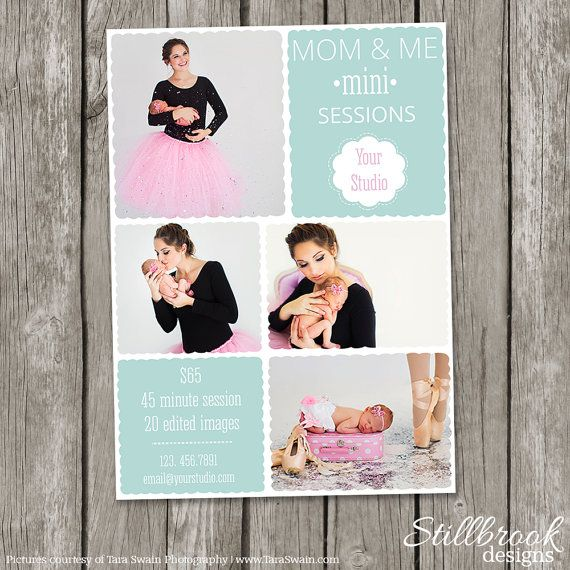 Freebie Mothers Day Flyer Template Design: Mommy & Me Mini Session Template
