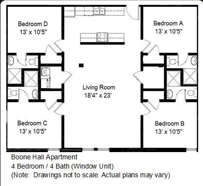 floor plan 4 bedroom 4 bath Bedroom Apartments on Floor Plan 4