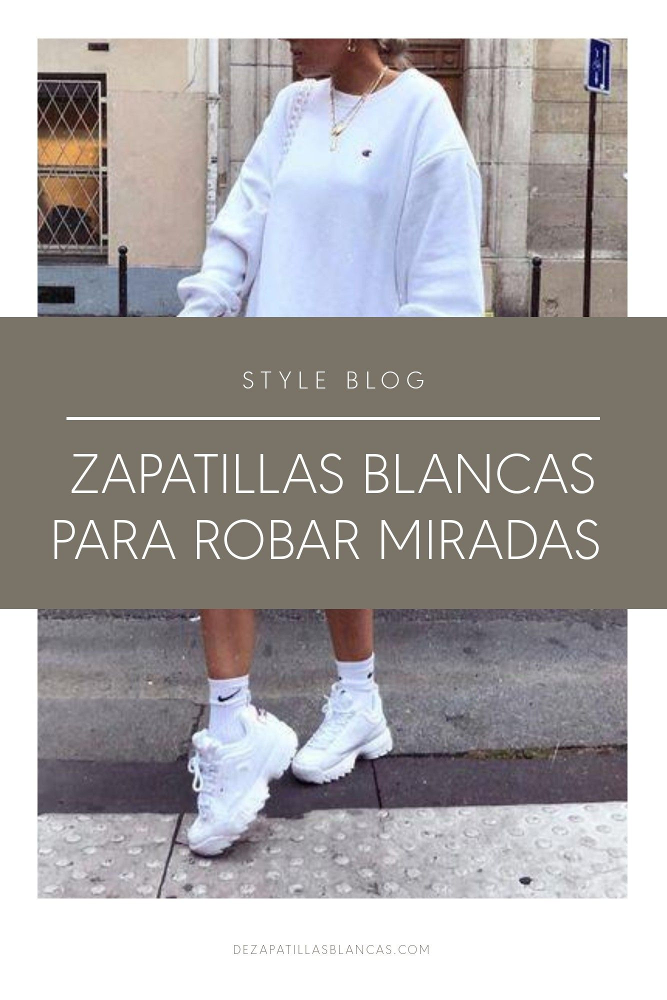 5 zapatillas blancas para lucir trendy | We heart it | Moda