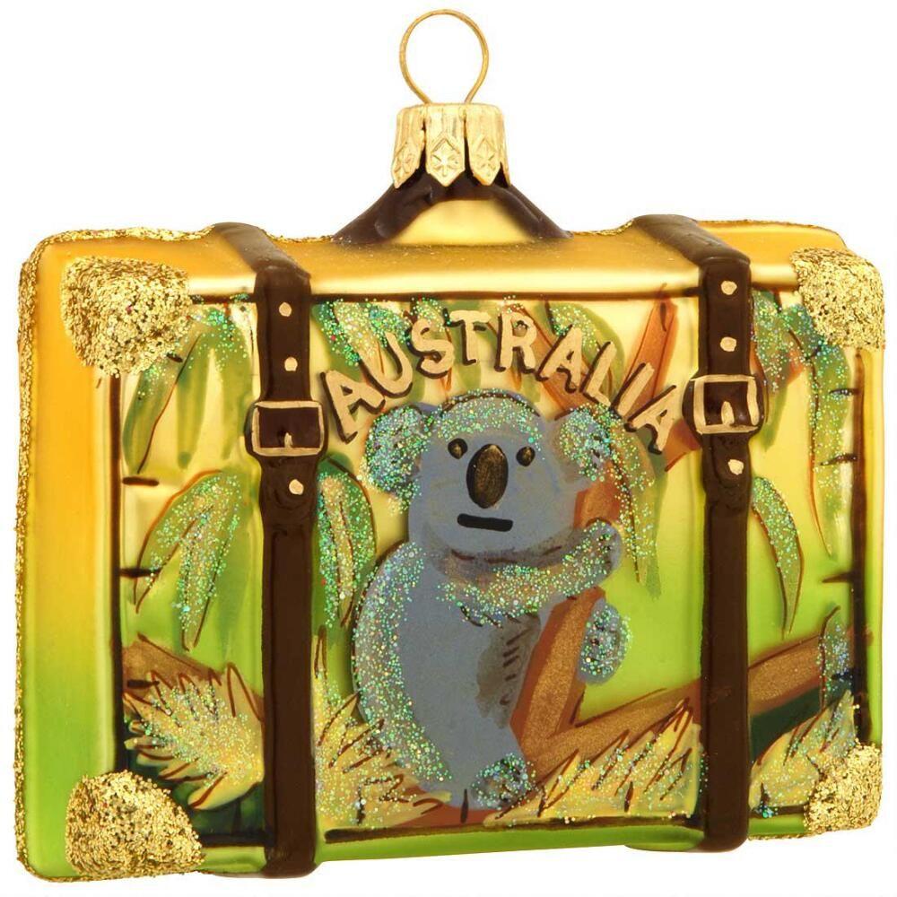 Australia Suitcase Glass Ornament 21.99 Glass ornaments