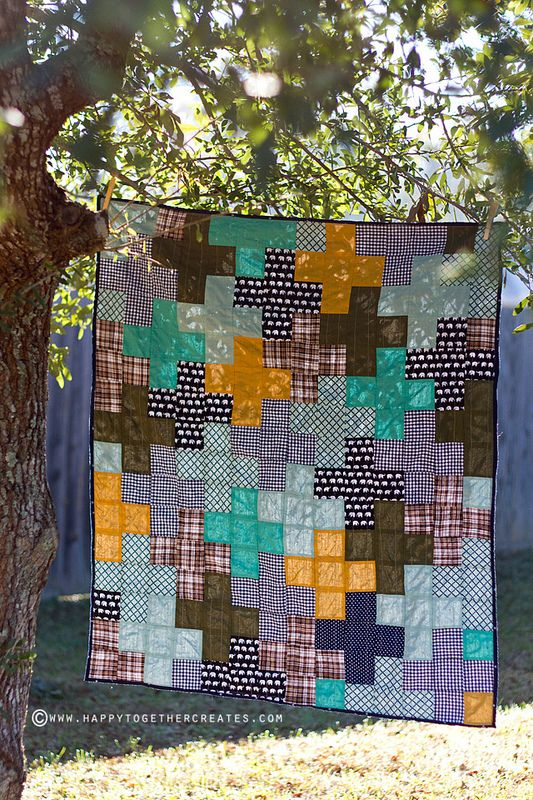 Scrappy Baby Plus Sign Quilt by Happy Together
