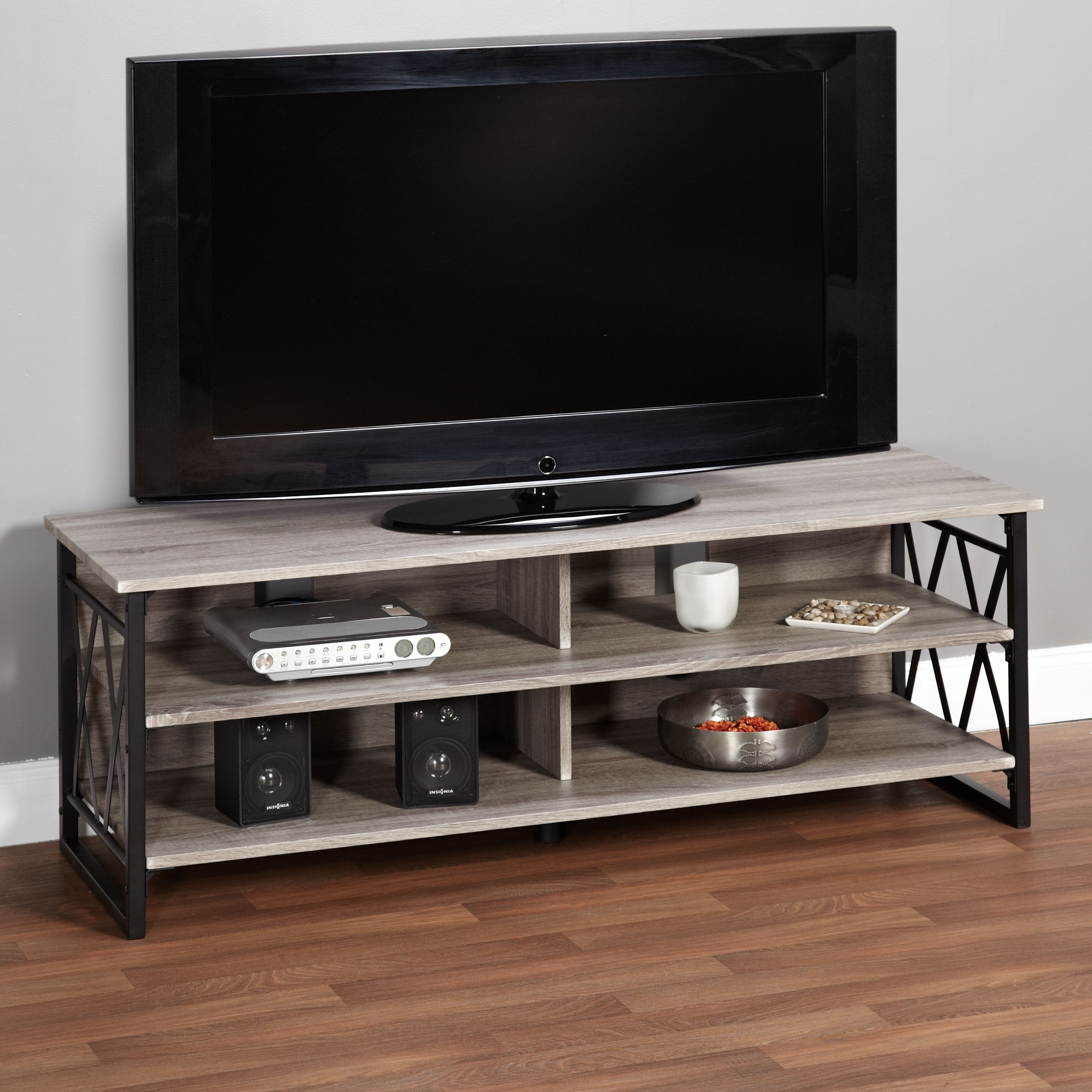 Simple Living Seneca XX Black/ Grey Rustic TV Stand   Overstock™ Shopping    Great Deals On Simple Living Entertainment Centers