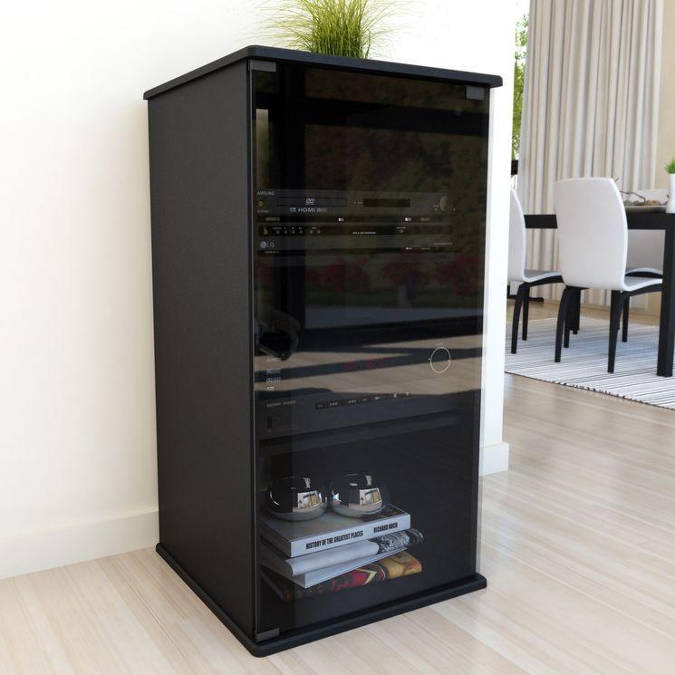 Audio Rack Tall Cabinet Storage