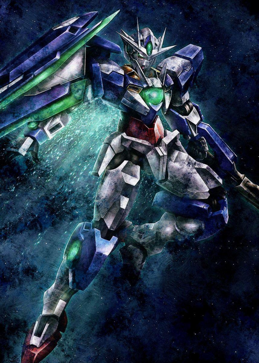 Gundam Exia Poster By Niceandbetter Studio Displate Gundam Exia Gundam Art Gundam Wallpapers Gundam exia wallpaper 4k