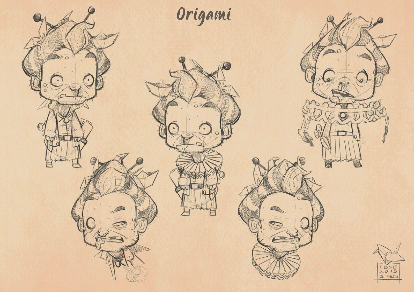 Davide Tosello Arte: Origami - diseño de personajes