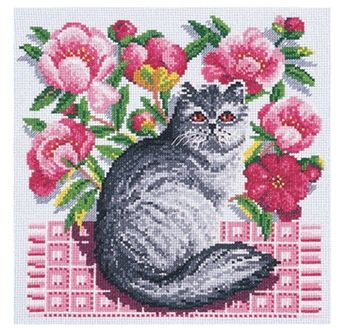 DIY Chart Counted Cross Stitch Patterns Needlework embroidery DMC Floral Cats
