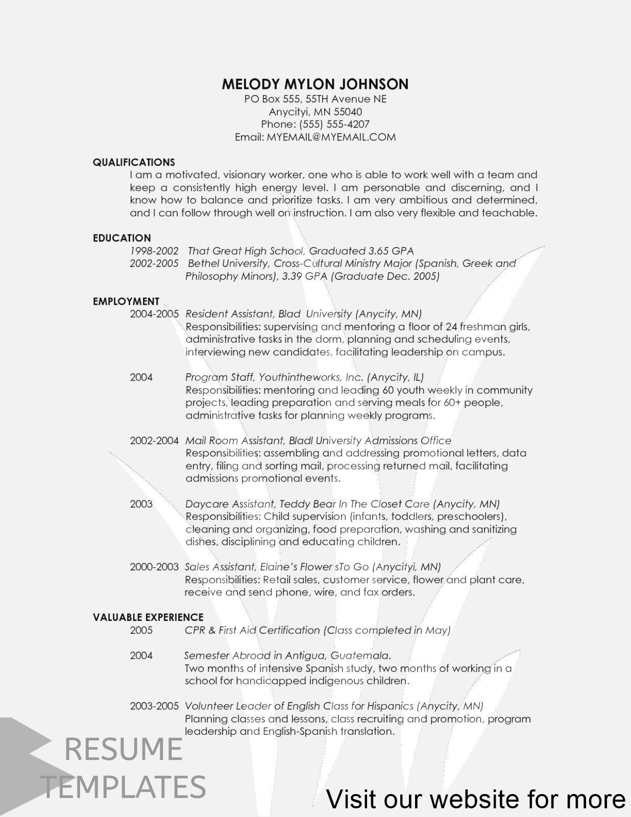 Resume Template College Freshman Professional Freshman College Resume Template Professional Resume Template