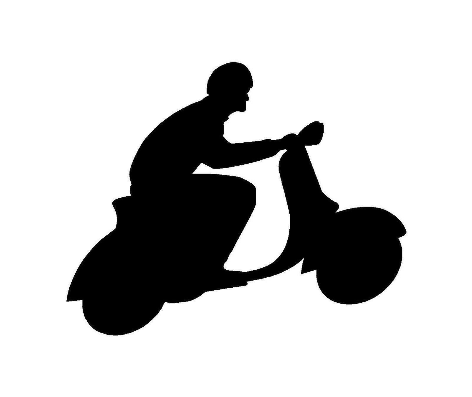 Scooter vespa motorbike outline logo sticker decal graphic