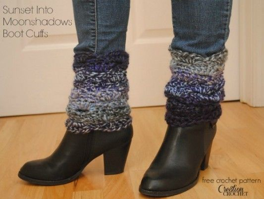 Sunset Into Moonshadows Free Crochet Boot Cuff Pattern Crochet