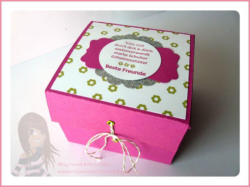Stampin' Up! - Geschenkbox - Viel-schichtig - Itty Bitties - Dekoratives Etikett - www.rosamaedchen.blogspot.de