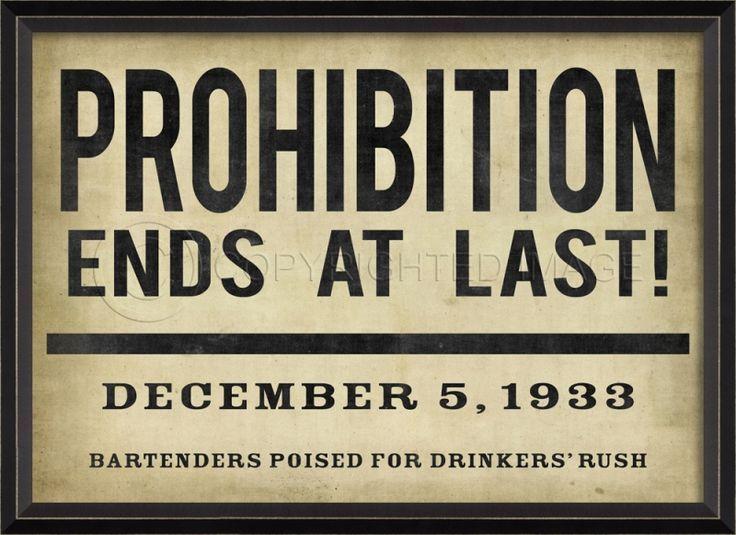 Prohibition dates