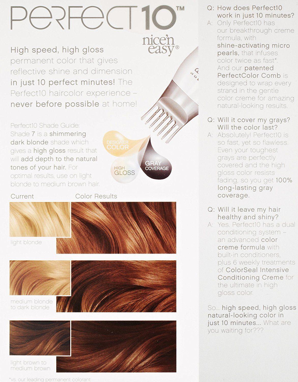Clairol Perfect 10 By Nice N Easy Hair Color 007 Dark Blonde 1 Kit