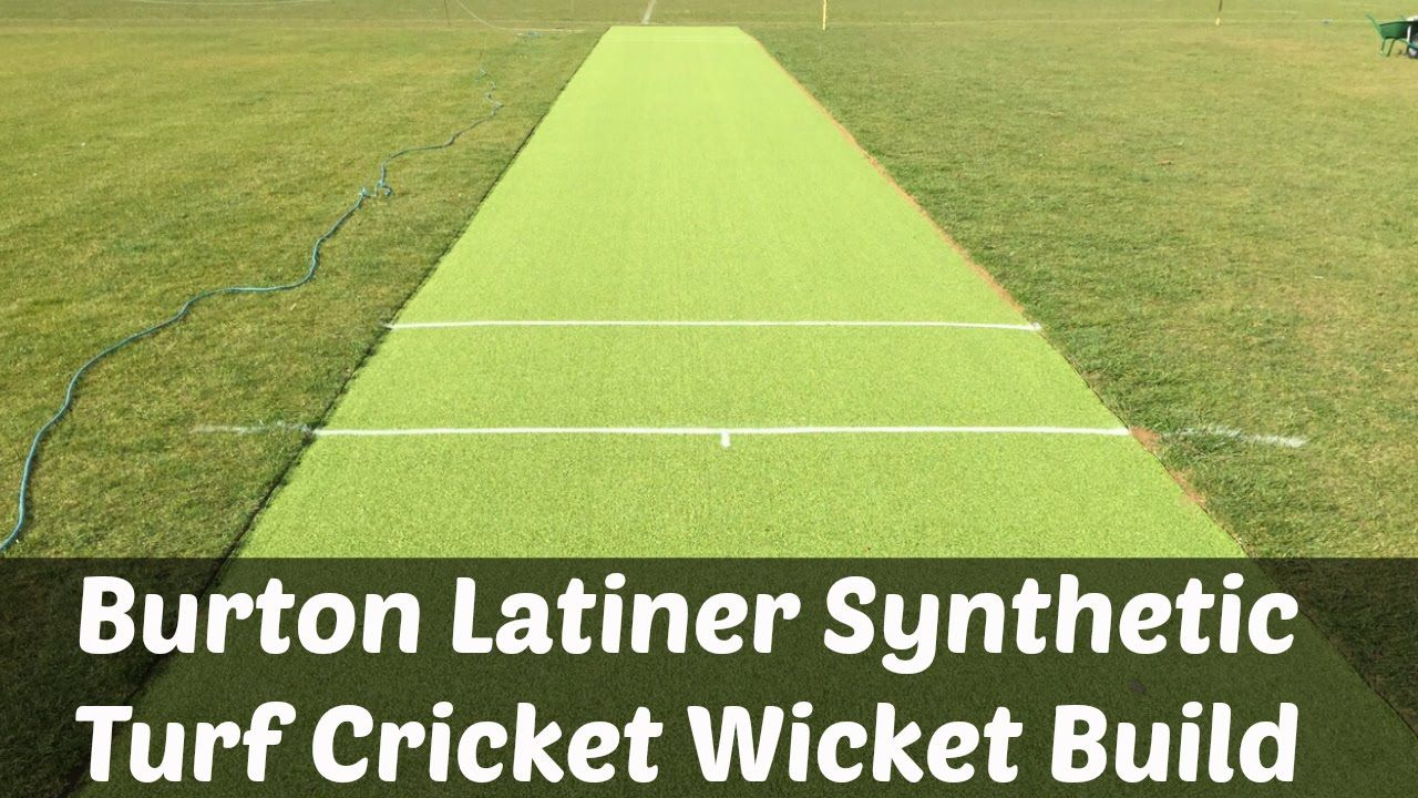 Burton Latiner Synthetic Turf Cricket Wicket Build Cricket Wicket Synthetic Turf Turf