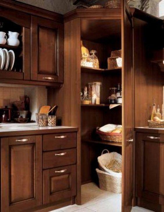 Unique Chocolate Brown Kitchen