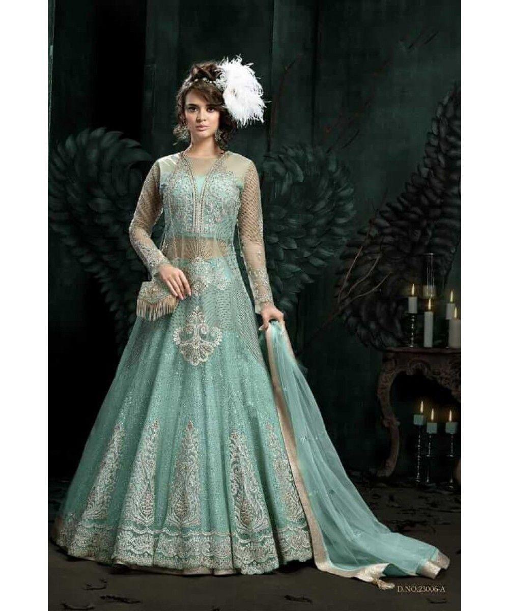 3624d566d3 Mint Green Colour Indian Wedding Partywear Dress | Zoya Collection | New  Arrivals | India USA UK Canada