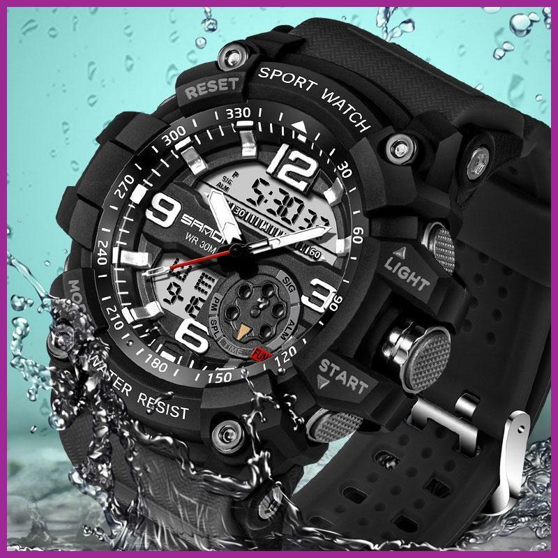 2017 Sanda Military Watch Men Waterproof Sport Watch For Mens Watches Top Brand Luxury Clock Campin Relojes Deportivos Hombre Relojes Deportivos Reloj De Buceo