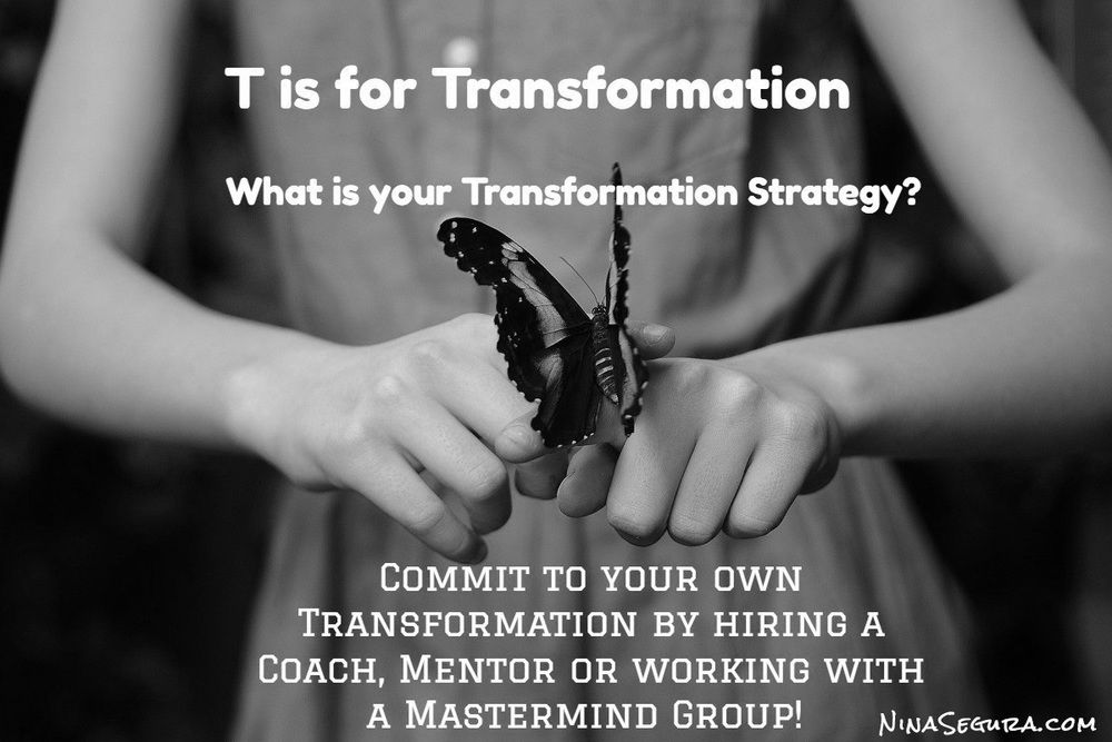 "GET YOUR ACTT TOGETHER! ""T"" STANDS FOR TRANSFORMATION STRATEGY!  http://ninasegura.com/blog/2016/8/18/t-is-for-transformation"