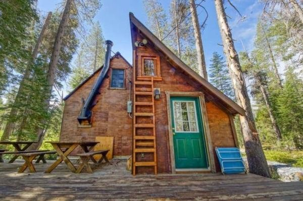 Riverfront Tiny Cabin in California Woods For Sale   Tiny Houses