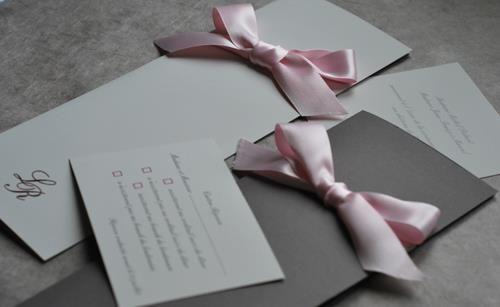 Faire-part de mariage Mlle A pour lArt du papier