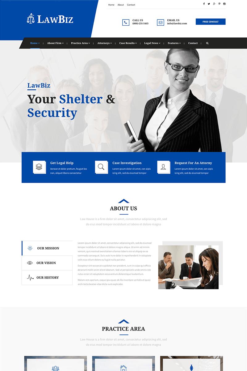 Website Template Lawbiz Lawyer Attorney Veb Dizajn Sajt Dizajn