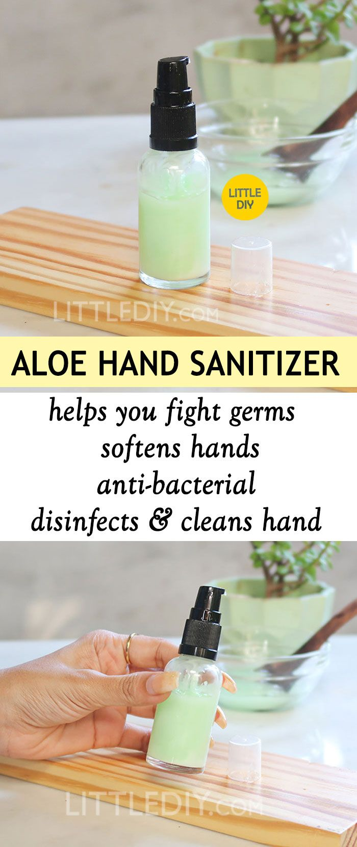 Homemade Natural Aloe Vera Hand Sanitizer Aloes Aloes Et Huiles
