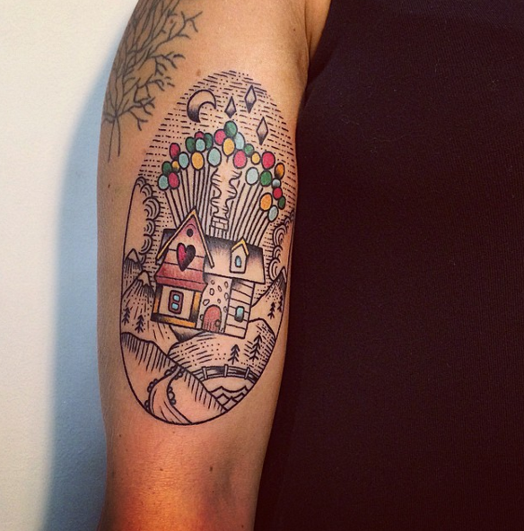 Adventure is out there up balloon house tattoos disney for Adventure is out there tattoo
