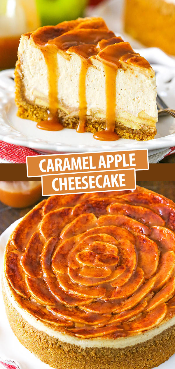 Easy Caramel Apple Cheesecake with Homemade Caramel!