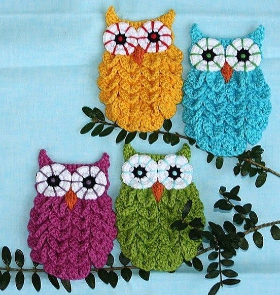 Créations hiboux au crochet ! | Idées crochet | Pinterest ...