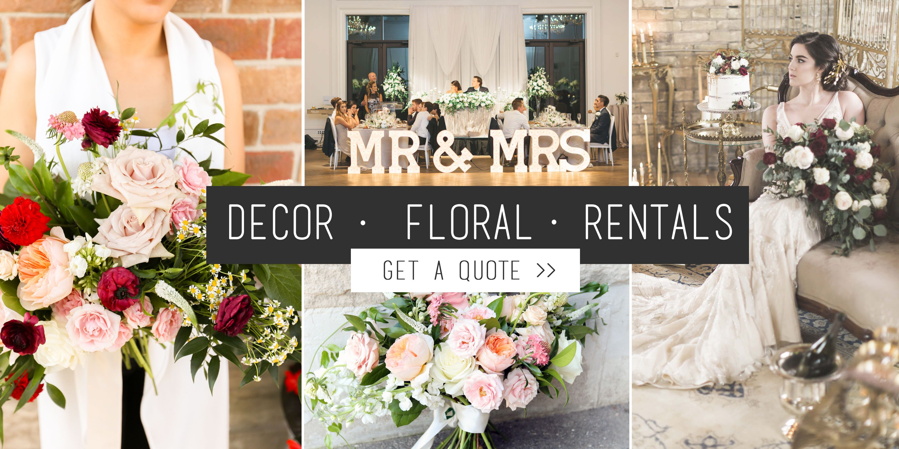 Toronto Florist Decorator Event Rentals Events Weddings Gta Wedding Rentals Decor Wedding Decorations Wedding Table Decorations Centerpieces