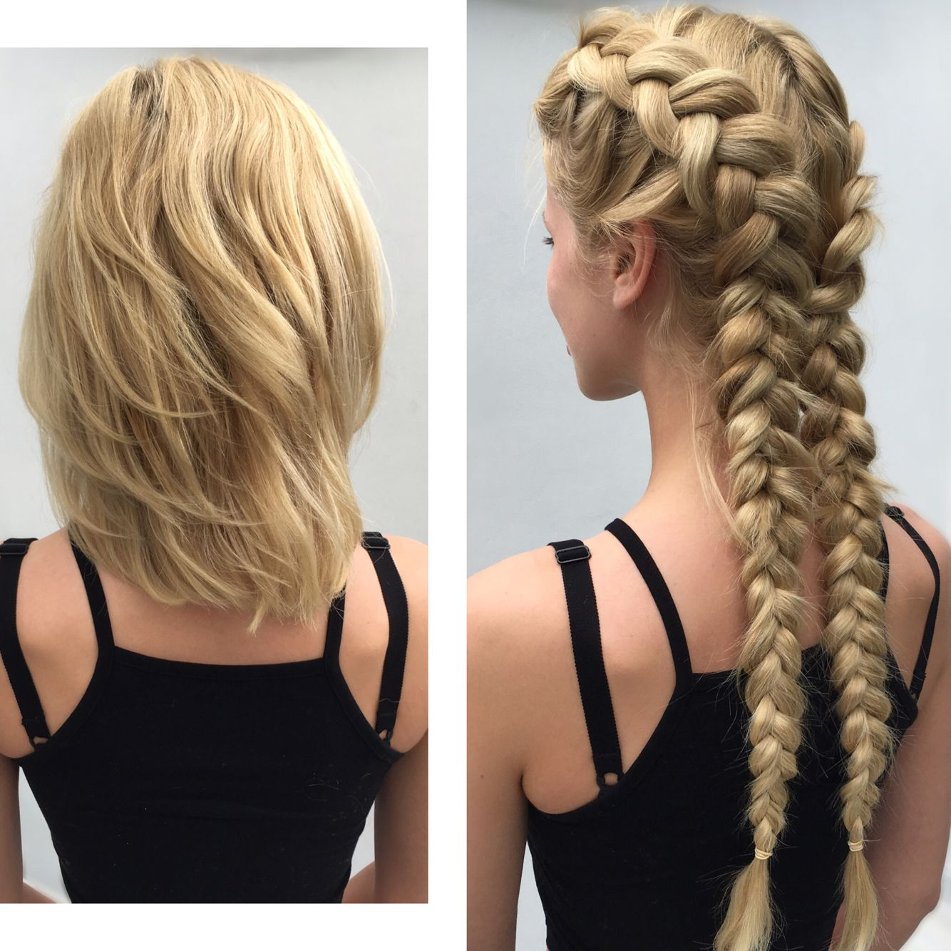 Boxer Braids Clip In Braids Hair Extensions By Tatiana Karelina Boxer Braids Hairstyles Braids With Extensions Braid In Hair Extensions