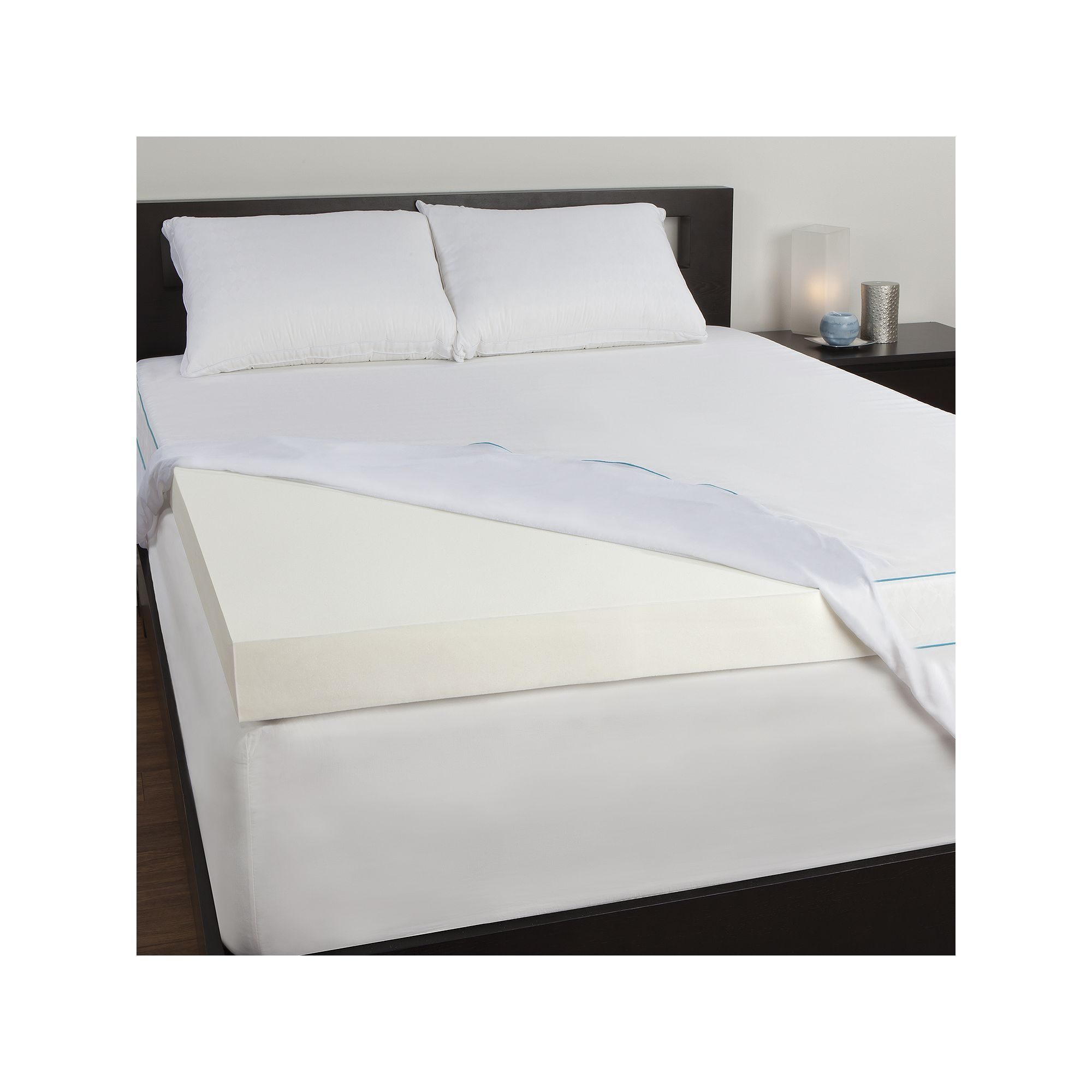 sealy posturepedic 4 in memory foam mattress topper white foam