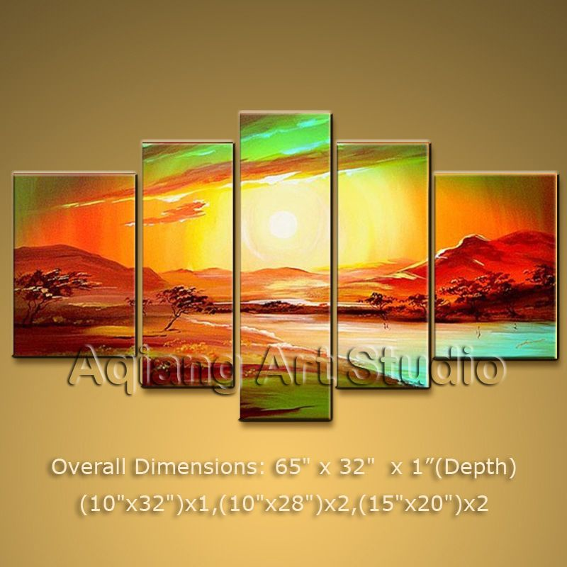 Huge Modern Contemporary Oil Painting Landscape Wall Art On ...