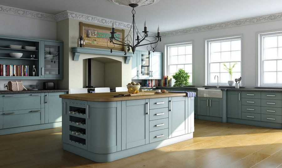 New Green Shaker Kitchen Cabinets