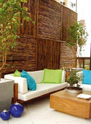 Muro de bambu cerca bamb terraza jardin y muros - Jardin de bambu talavera ...