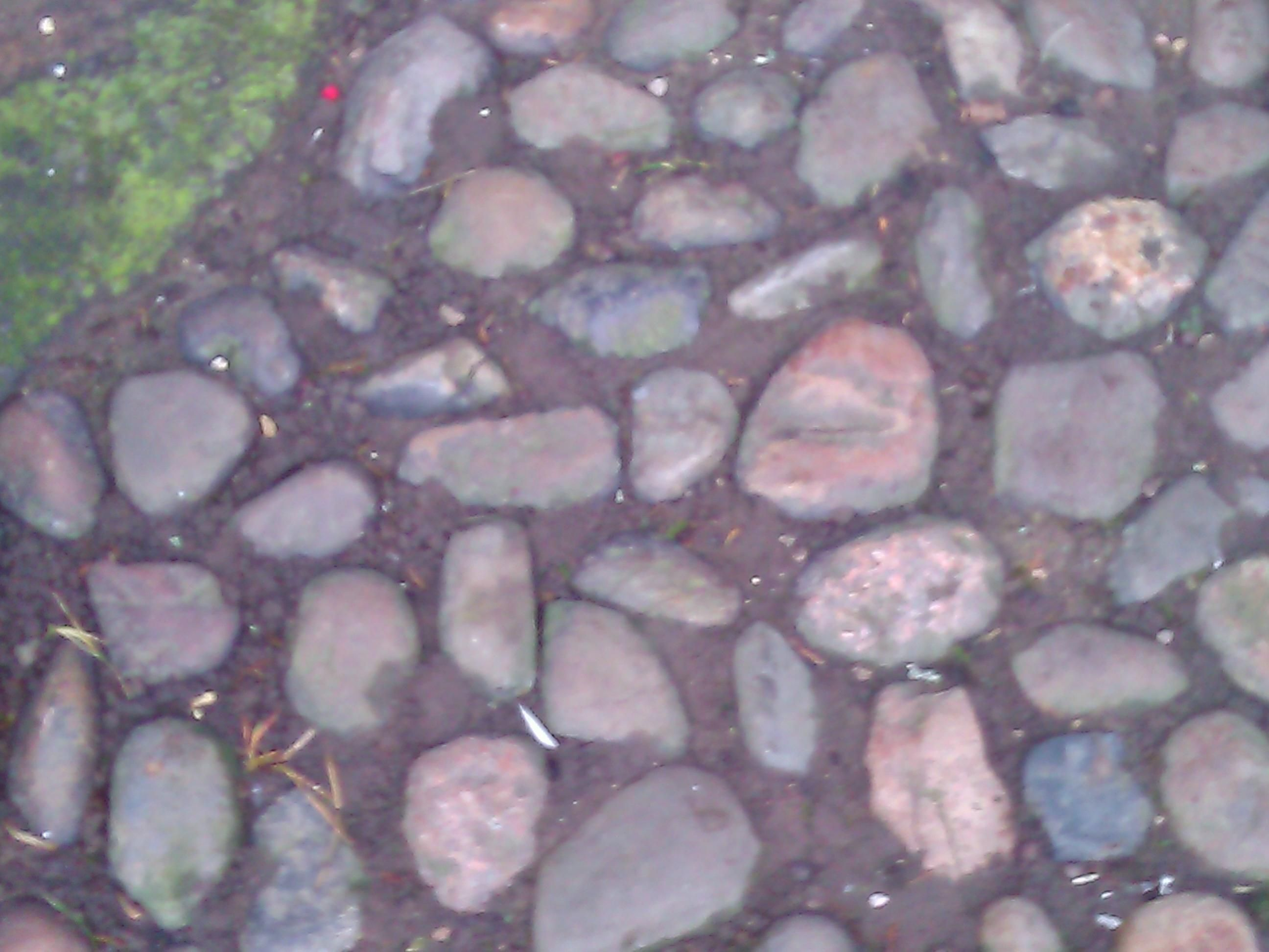 Pebble path at Little Moreton Hall, Cheshire.