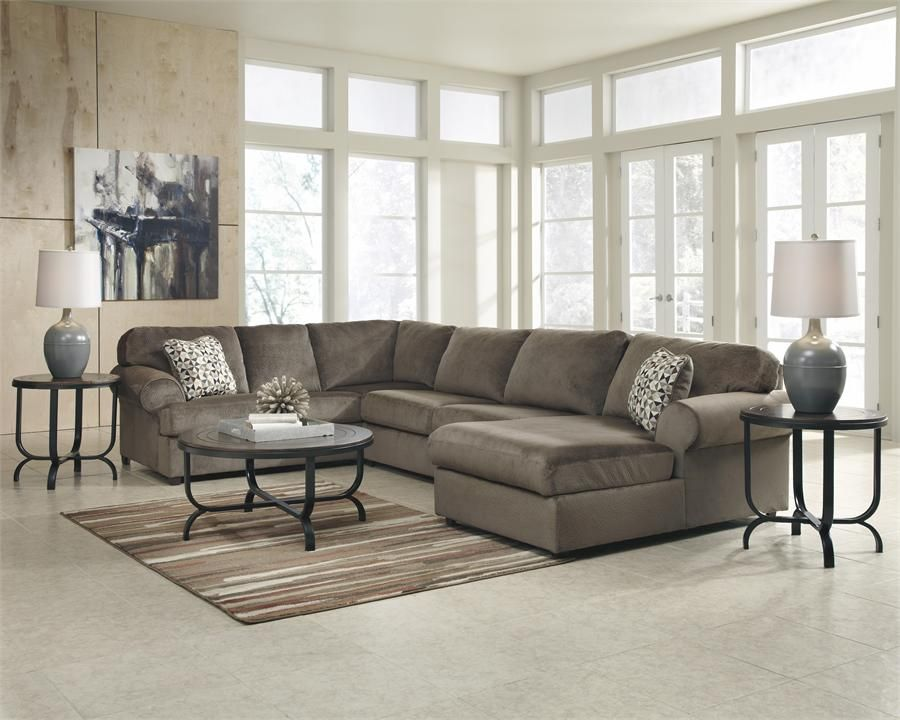 Jessa Place Dune Right Arm Facing Chaise Sectional by Ashley ...