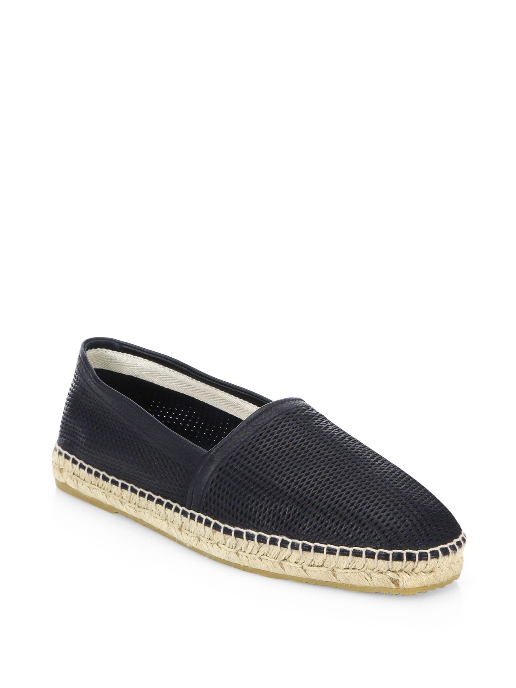 ArmaniPerforated Leather Espadrille PsFSYcs