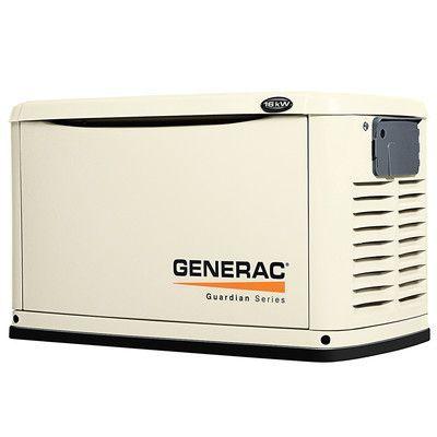 Generac 16 Kw Air Cooled Dual Fuel Standby Generator In Steel