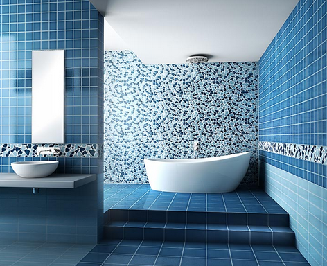 the blue tiled design looks simply amazing and the