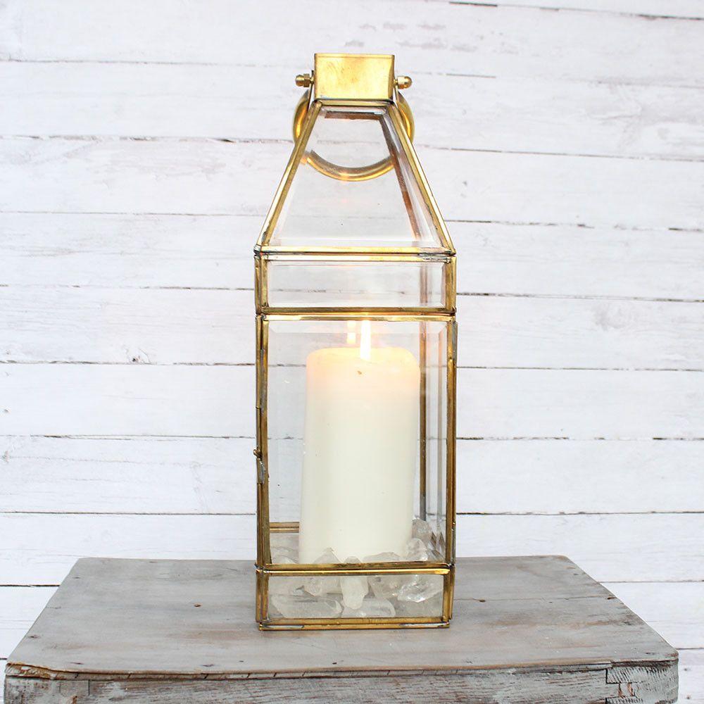 Gold Lantern 13 Candle Lanterns Glass Candle And Gold Lanterns
