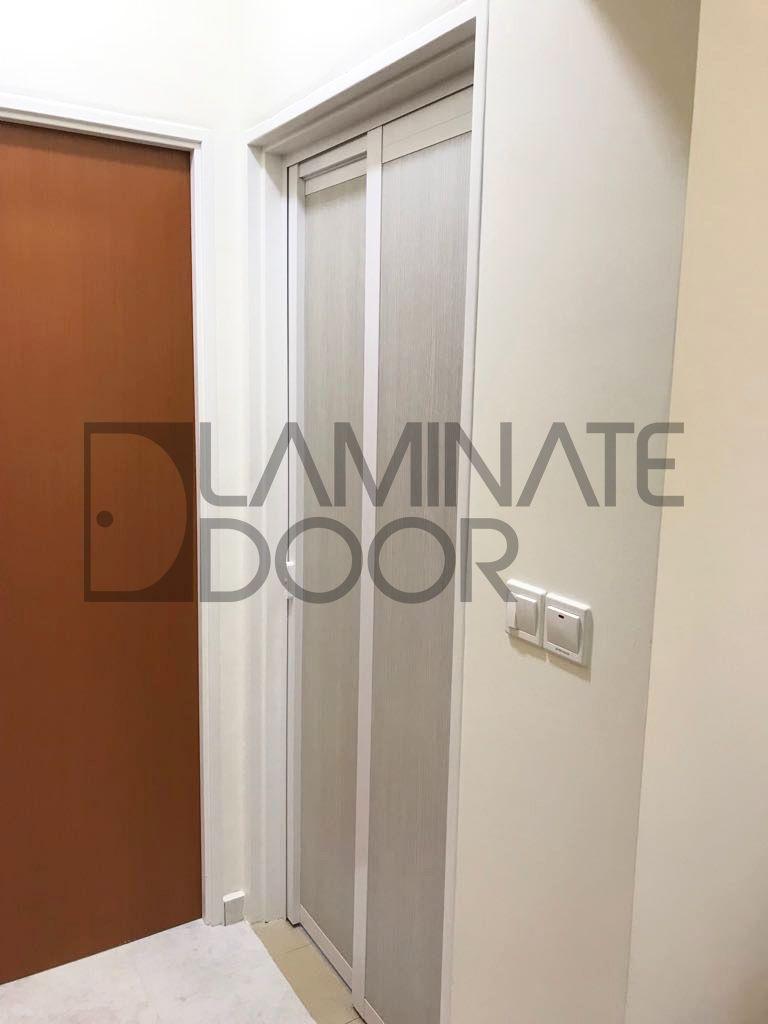 Slide And Swing Toilet Door Install For Hdb Bto Free To Customize Get 1 Door At 350 2 Door At 598 C Louvered Interior Doors Doors Interior Laminate Doors